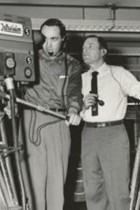 Bob Gordon with a cameraman