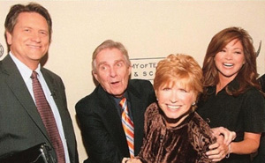 Bonnie Franklin with Jim Harrington and Valerie Bertinelli (of One Day at a Time) and Jim Longworth in 2007