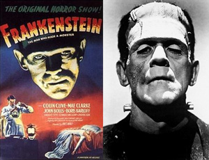 1931's Frankenstein, starring Boris Karloff