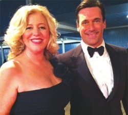 Jon Hamm at the Emmys with Pam Cook, Jim's wife