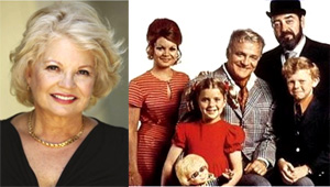 Kathy Garver today, and with the cast of Family Affair