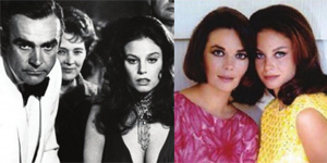 Lana Wood with Sean Connery (left) and Natalie Wood (right)