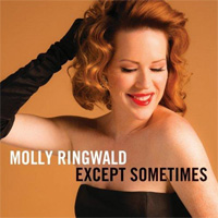 The cover of Molly Ringwald's album, Except Sometimes
