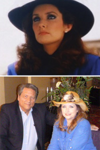 Morgan Brittany, on Dallas in the early '80s, and today with Jim Longworth