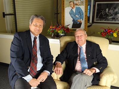 Arnold Palmer, with Jim Longworth