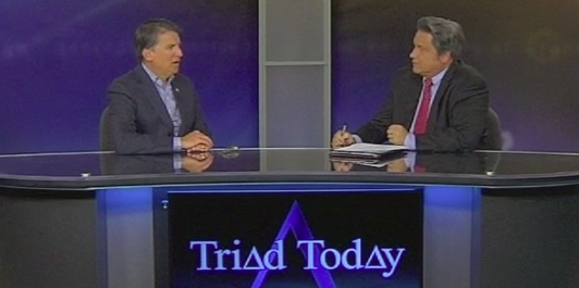 Jim Longworth interviewing Governor Pat McCrory