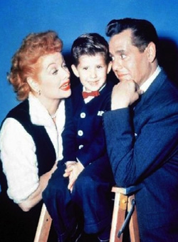 Lucille Ball, Keith Thibodeaux and Desi Arnaz as the Ricardo family