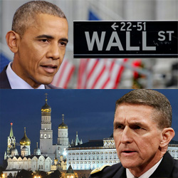 Former president Barack Obama and former DIA director General Michael Flynn