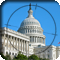 United States Capitol seen in rifle crosshairs