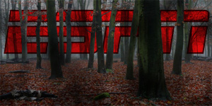 ESPN logo shown behind trees, lost in dark woods
