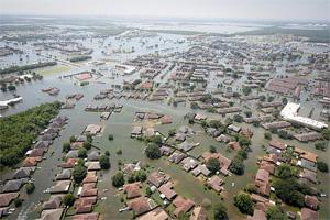 Flooding in Port Arthur, Texas, from Hurricane Harvey