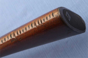Notches on the stock of a rifle