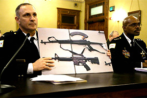 Testimony during an Illinois hearing on assault weapons