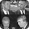 Presidents Kennedy, Johnson, Clinton and Trump