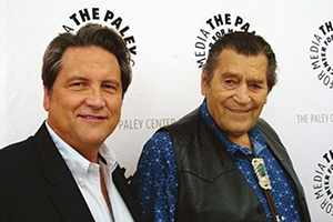 Actor Clint Walker with Jim Longworth