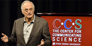 Alan Alda presenting for the Center for Communicating Science