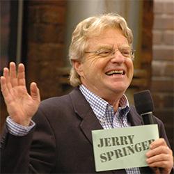 Former TV show host Jerry Springer