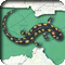 A salamander crawling on a map of North Carolina's 13th District