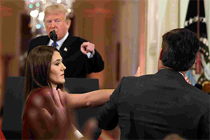 President Trump has White House intern take microphone from CNN correspondent Jim Acosta