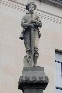 The Confederate memorial statue in Winston-Salem