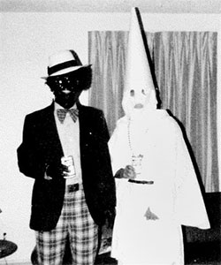 photo from Virginia Governor Ralph Northam's 1984 yearbook page