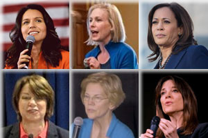 six women candidates for the 2020 US presidential election