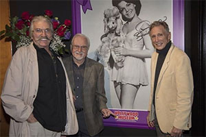 Actors Paul Petersen, Tommy Cole and Johnny Crawford at the Annette Funicello exhibit of the Hollywood Museum in 2018