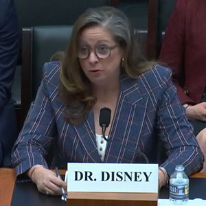 Dr. Abigail Disney, granddaughter of Disney Company co-founder Roy Disney, testifying before the US House Financial Services Committee