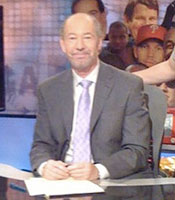 Sportswriter and TV host Tony Kornheiser on the set of ESPN's Pardon the Interruption in 2010
