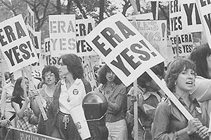 ERA demonstrators in the 1970s