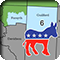 new North Carolina 6th congressional district with Democrat donkey