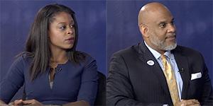 6th District Democrat candidates Rhonda Foxx and Ed Hanes