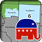 new North Carolina 6th congressional district with Republican elephant