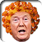 Donald Trump's face on a coronavirus