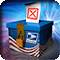 Ballot Box with US Postal Service logo