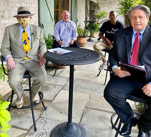 Knights of the Round Table at Paul Ciener Gardens during the 2020 coronavirus pandemic