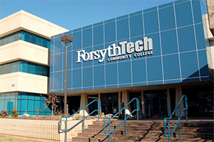 The main building at Forsyth Tech Community College