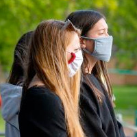 Women wearing masks during the COVID-19 pandemic