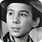 Actor Johnny Crawford as Mark McCain in the TV western series The Rifleman
